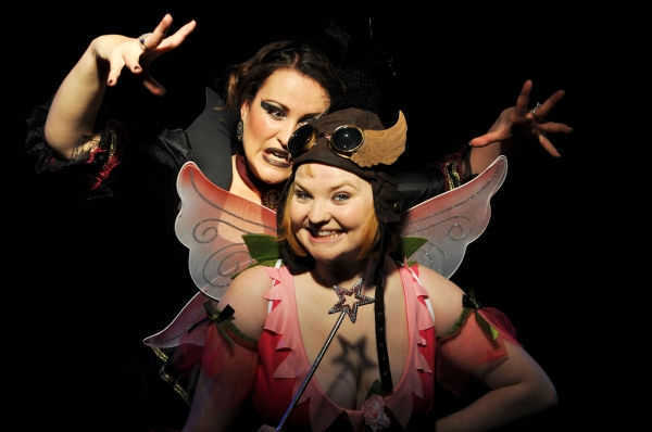 Lucyelle Cliffe as Queen Runt Laura Hyde as Fairy Bell End Photo