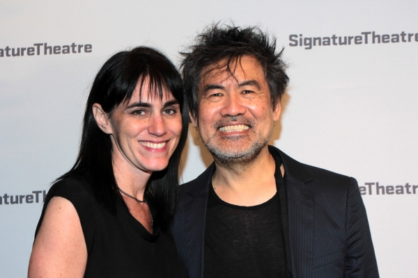 Leigh Silverman, David Henry Hwang at Inside Opening Night of GOLDEN CHILD