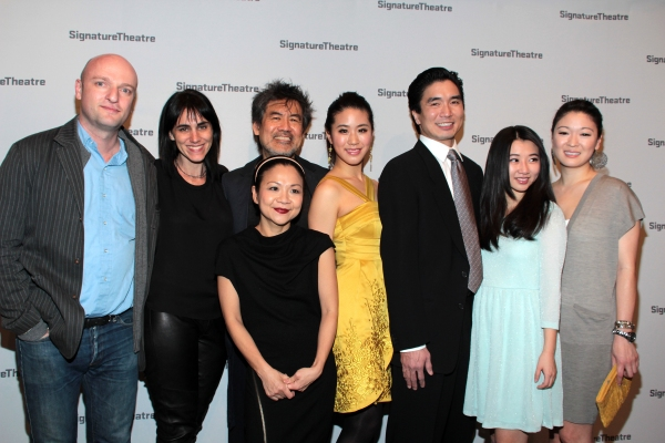 Matthew Mahar, Leigh Silverman, Julyana Soelistyo, David Henry Hwang, Lesley Hu, Greg Watanabe, Annie Q, Jennifer Lim at Inside Opening Night of GOLDEN CHILD