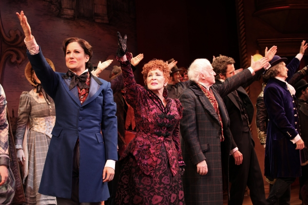 Stephanie J. Block, Chita Rivera, Jim Norton, Will Chase, Gregg Edelman at FREEZE FRAME: THE MYSTERY OF EDWIN DROOD Opening Night Curtain Call
