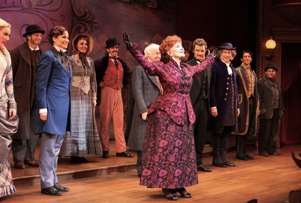 Peter Benson, Jessie Mueller, Betsy Wolfe, Stephanie J. Block, Chita Rivera, Jim Norton, Will Chase, Gregg Edelman, Andy Karl, Robert Creighton & Company at FREEZE FRAME: THE MYSTERY OF EDWIN DROOD Opening Night Curtain Call