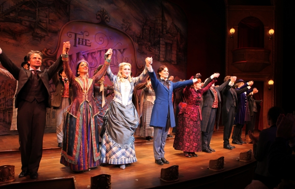 Peter Benson, Jessie Mueller, Betsy Wolfe, Stephanie J. Block, Chita Rivera, Jim Norton, Will Chase & Gregg Edelman at FREEZE FRAME: THE MYSTERY OF EDWIN DROOD Opening Night Curtain Call