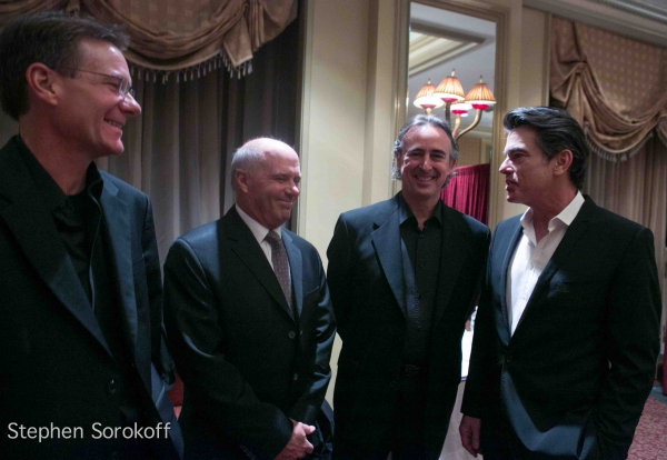 Rod Harbour, Ken Wild, Music director Jeff Colella, Peter Gallagher Photo
