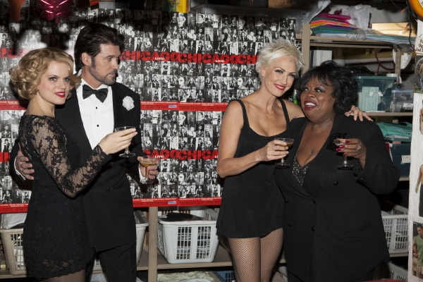 Amy Spanger, Billy Ray Cyrus, Amra-Faye Wright and Carol Woods at CHICAGO Celebrates 16 years on Broadway!
