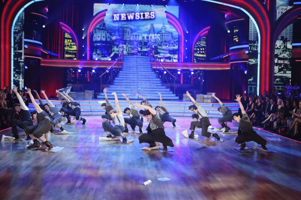 Photo Flash: NEWSIES Cast Performs on DANCING WITH THE STARS
