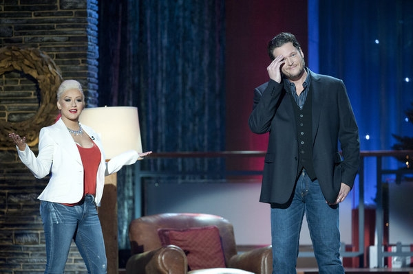 Christina Aguilera, Blake Shelton at First Look - BLAKE SHELTON'S NOT-SO-FAMILY CHRISTMAS on NBC