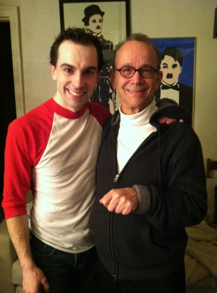 Joel Grey and Rob McClure at Joel Grey Visits CHAPLIN!