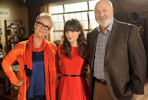 Jamie Lee Curtis, Zooey Deschanel. Rob Reiner