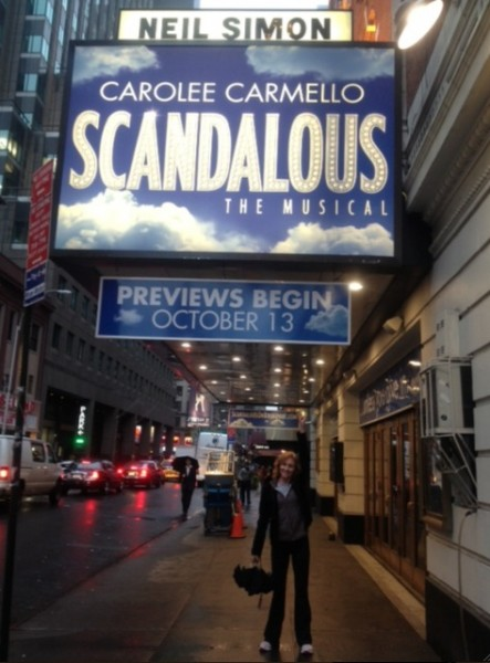 BWW Blog: SCANDALOUS' Elizabeth Ward Land - SCANDALOUS Opens on Broadway!