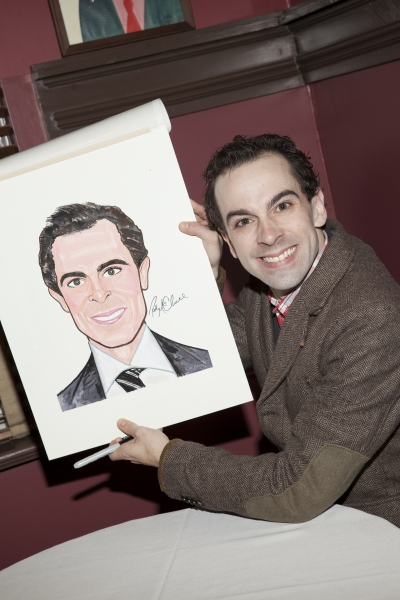 Rob McClure at CHAPLIN's Rob McClure Receives a Portrait at Sardi's
