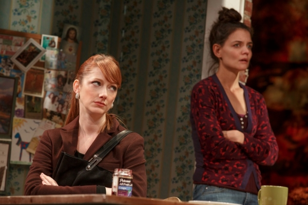 Photo Flash: First Look at Katie Holmes, Norbert Leo Butz and More in DEAD ACCOUNTS on Broadway!