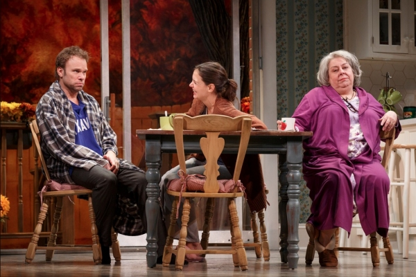 Norbert Leo Butz as 'Jack', Katie Holmes as 'Lorna' and Jane Houdyshell as 'Barbara'