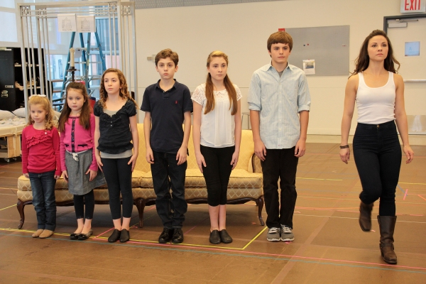 Greta Clark, Gracie Beardsley, Maya Fortgang, Hunter A. Kovacs, Amanda Harris, Sean McManus, Chelsea Morgan Stock at Paper Mill Playhouse's THE SOUND OF MUSIC Meets the Press