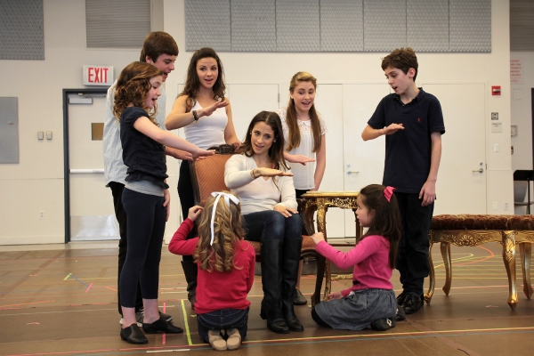 Sean McManus, Amanda Harris, Chelsea Morgan Stock, Hunter A. Kovacs, Elena Shaddow, Greta Clark, Maya Fortgang, Gracie Beardsley at Paper Mill Playhouse's THE SOUND OF MUSIC Meets the Press