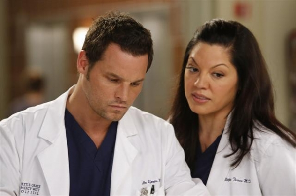 JUSTIN CHAMBERS, SARA RAMIREZ at First Look - GREY'S ANATOMY's 'I Was Made for Lovin' You,' Airs 11/29