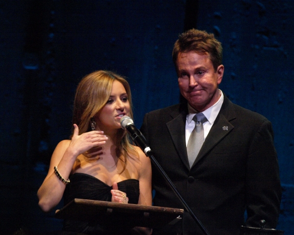 Christine Lakin and Davis Gaines at Inside the 2012 OVATION AWARDS!
