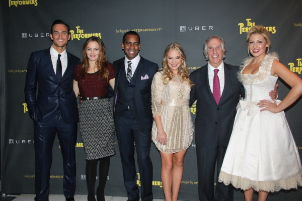 Cheyenne Jackson, Alicia Silverstone, Daniel Breaker, Jenni Barber, Henry Winkler and Ari Graynor at THE PERFORMERS on Broadway - Opening Night Party!