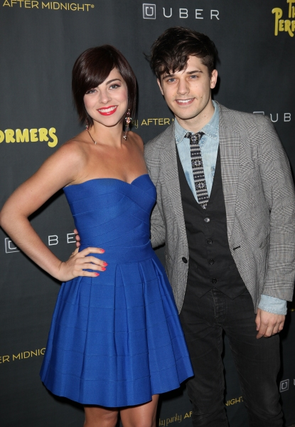 Krista Rodriguez and Andy Mientus at THE PERFORMERS Opening Night Red Carpet Arrivals!