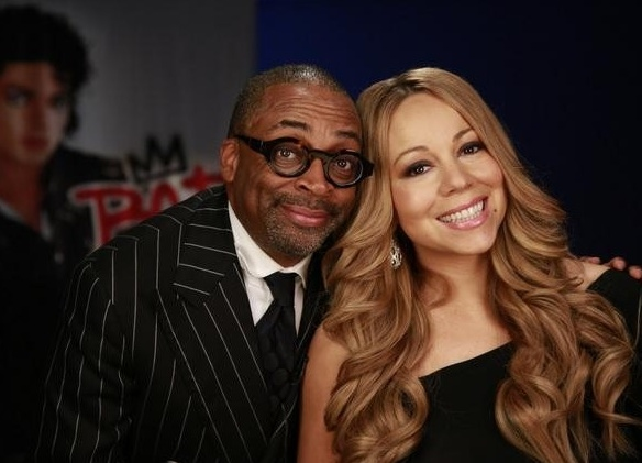 Spike Lee, Mariah Carey at First Look - Michael Jackson Documentary BAD 25, Airing on ABC