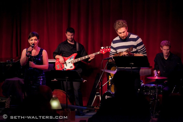 Daisy Eagan, Danny Goldstein, and Band