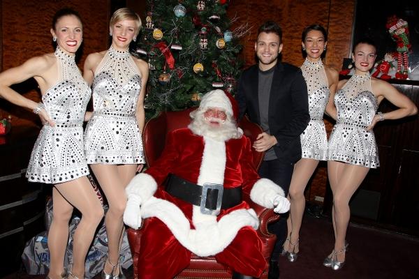Christopher Palu, Santa, and The Rockettes Photo