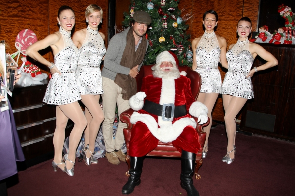 Matthew Settle, Santa, and The Rockettes