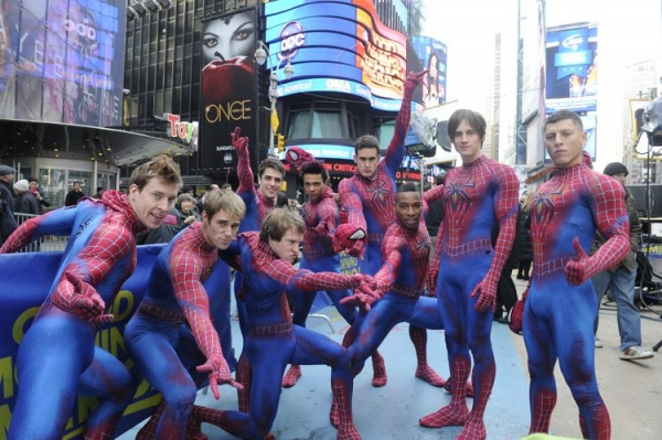Photo Flash: Cast of SPIDER-MAN Unveils 2013-14 BC/EFA Calendar on GOOD MORNING AMERICA