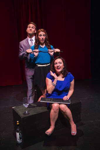 Drew Moerlein as Hugh Hanson, Michelle Vezilj as Tasha Woode and Amanda Barker as EB Janet