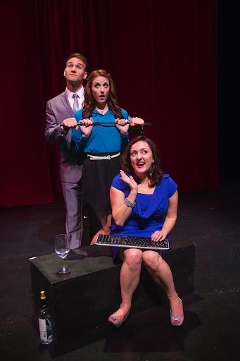 Drew Moerlein as Hugh Hanson, Michelle Vezilj as Tasha Woode and Amanda Barker as EB  Photo