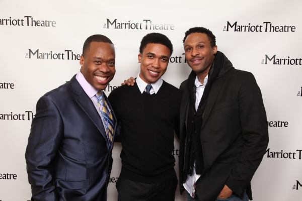Quinn M. Bass, Clinton Roane and Jarran Muse at Opening Night at Marriott Theatre's MY ONE AND ONLY