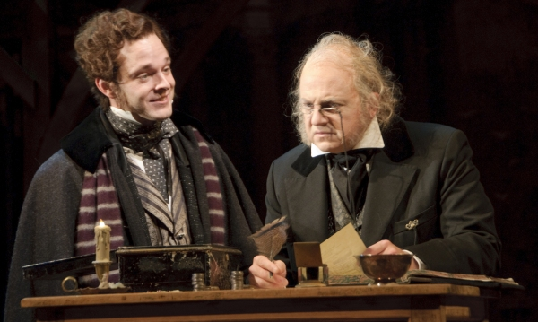 Jay Sullivan as Fred and Jeffrey Bean as Ebenezer Scrooge
