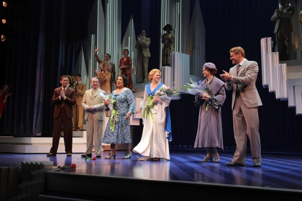 Andrew Samonsky, George Hearn, Roz Ryan, Carolee Carmello, Candy Buckley, Edward Watts at SCANDALOUS Opening Night on Broadway - Curtain Call!