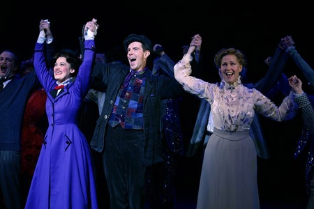 Ashley Brown, Gavin Lee and Rebecca Luker on opening night