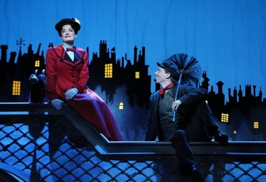 Laura Michelle Kelly and Christian Borle in 2009 at Photo Flashback: MARY POPPINS Celebrates 6 Years on Broadway!