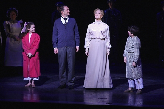 Kelsey Fowler, Daniel Jenkins, Rebecca Luker and Zach Rand celebrate MARY POPPINS' 1000th performance