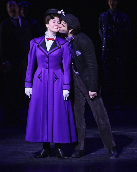 Scarlett Strallen and Adam Fiorentino at MARY POPPINS' 1000th performance in 2009