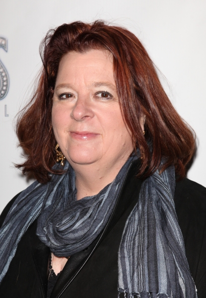 Theresa Rebeck  at SCANDALOUS' Opening Night Arrivals!