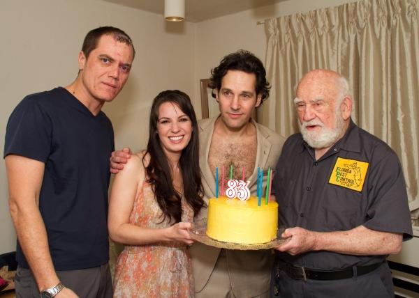 Photo Flash: GRACE Cast Celebrates Ed Asner's Birthday!