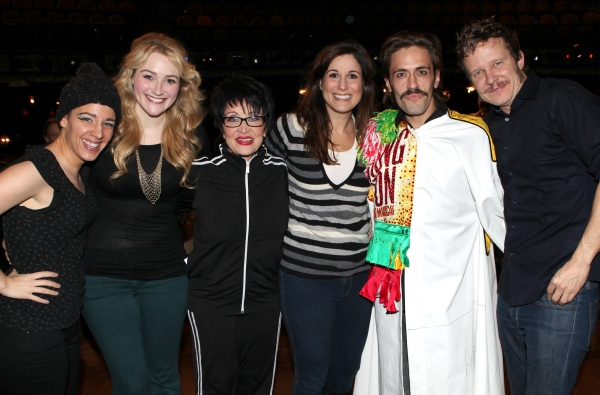 Jessie Mueller, Betsy Wolfe, Chita Rivera, Stephanie J. Block, Eric Sciotto & Will Chase at Photo Coverage Exclusive: THE MYSTERY OF EDWIN DROOD's Gypsy Robe Ceremony!