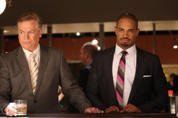 CHRISTOPHER MCDONALD, DAMON WAYANS JR. at First Look - HAPPY ENDINGS' 'To Serb with Love,' Airs 12/11