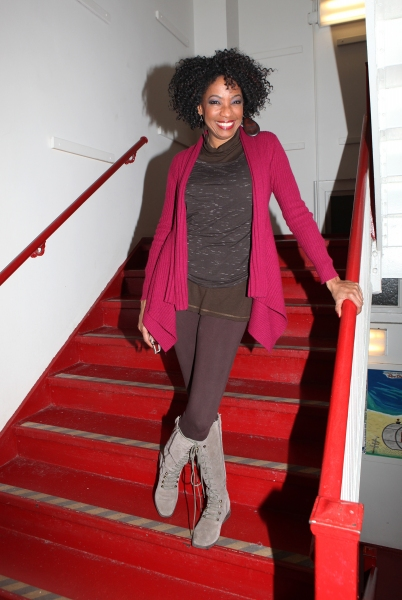 Photo Coverage: GLEE's Chris Colfer Visits Amber Riley Backstage at COTTON CLUB PARADE!