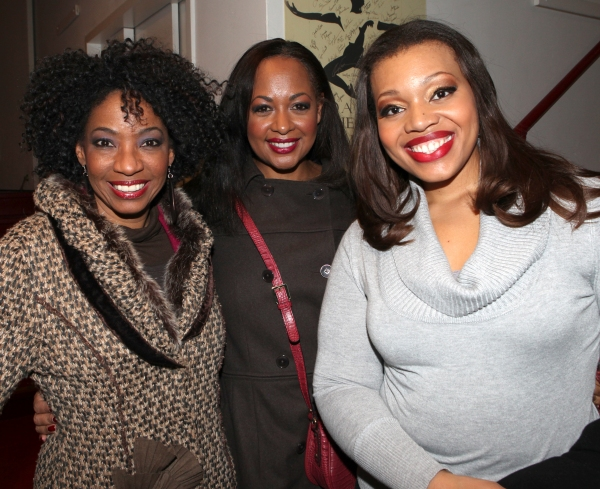 Adriane Lenox, La Tanya Hall & Carmen Ruby Floyd  at GLEE's Chris Colfer Visits Amber Riley Backstage at COTTON CLUB PARADE!