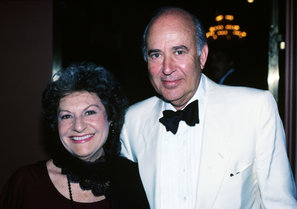 Carl Reiner & wife Estelle Reiner in 1984, New York City.