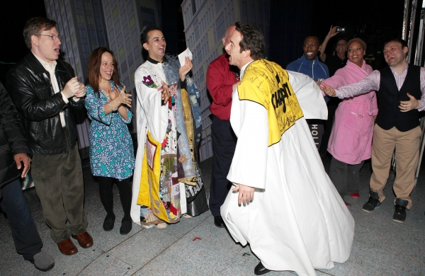 Timothy J. Alex  with Leslie Kritzer, Carlos L. Encinias in 'Scandalous The Musical', David Westphal, Eric LaJuan Summers, Ariel Reid & Company on 11/18/2012 at Exclusive Inside ELF's Gypsy Robe Ceremony