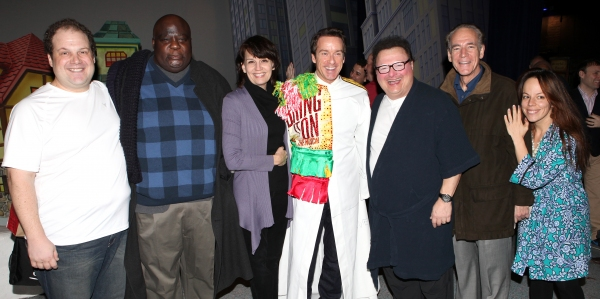 Timothy J. Alex  with Jordan Gelber, Michael Mandell, Beth Leavel, Wayne Knight, Mark Jacoby & Leslie Kritzer at Exclusive Inside ELF's Gypsy Robe Ceremony