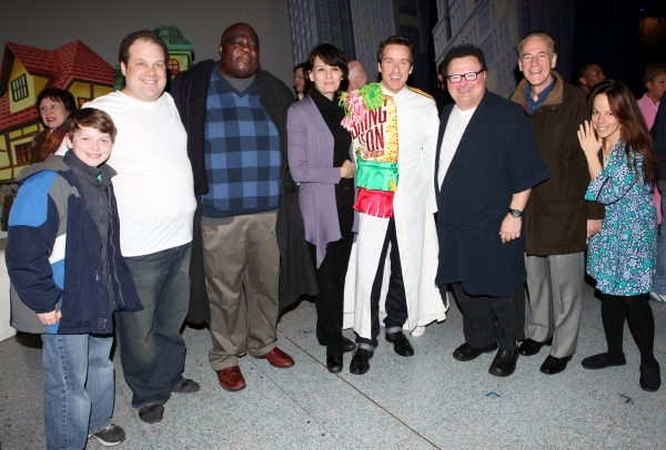 Timothy J. Alex  with Mitchell Sink, Jordan Gelber, Michael Mandell, Beth Leavel, Wayne Knight, Mark Jacoby & Leslie Kritzer
