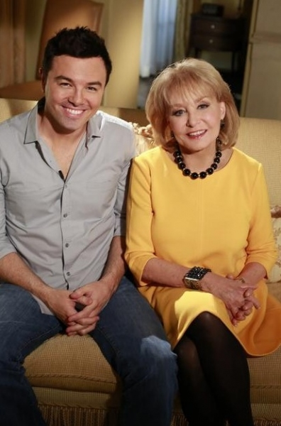 Seth MacFarlane,Barbara Walters at First Look - MacFarlane, One Direction & More on '10 MOST FASCINATING PEOPLE OF 2012'