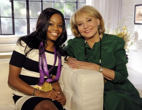 Gabby Douglas,Barbara Walters at First Look - MacFarlane, One Direction & More on '10 MOST FASCINATING PEOPLE OF 2012'