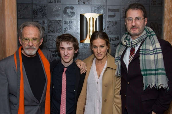 Ron Rifkin, Noah Robbins, Sarah Jessica Parker, Jon Robin Baitz  at Inside Opening of Public Theater's THE TWENTY-SEVENTH MAN