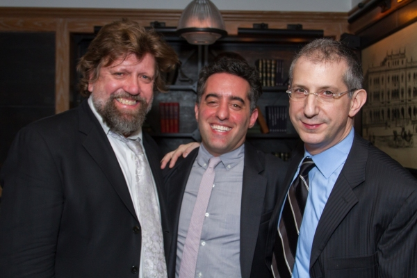 Oskar Eustis, Nathan Englander, and Barry Edelstein  Photo